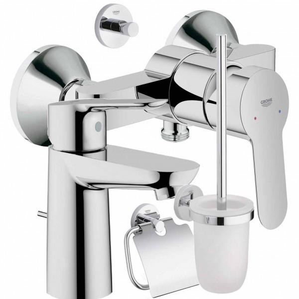 GROHE Armatur Set Dusche Becken WC Set BauEdge 23328 - 23333 - 40407