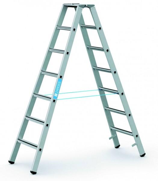 ZARGES Stehleiter Saferstep B - 41307 - 7 Sprossen - Leiterhöhe 1,84 Meter