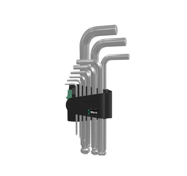 Wera Winkelschlüsselsatz 950/9 Hex-Plus 3 - Winkelschlüssel Set 05133163001