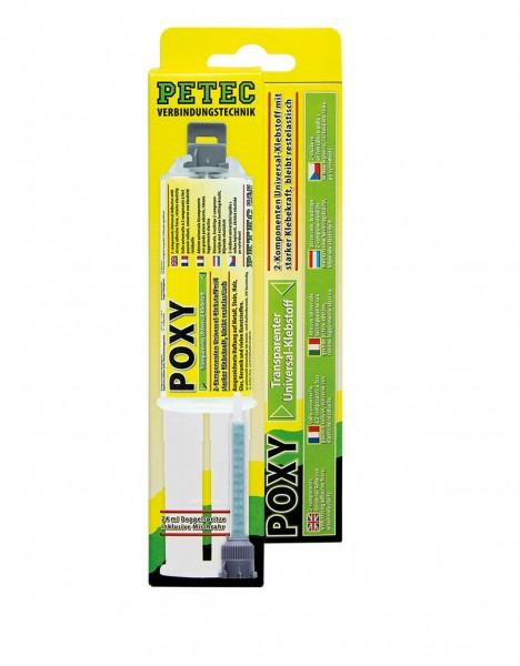 Petec 98425 Power Poxy 2K Universalklebstoff - 24ml Tube - transparent