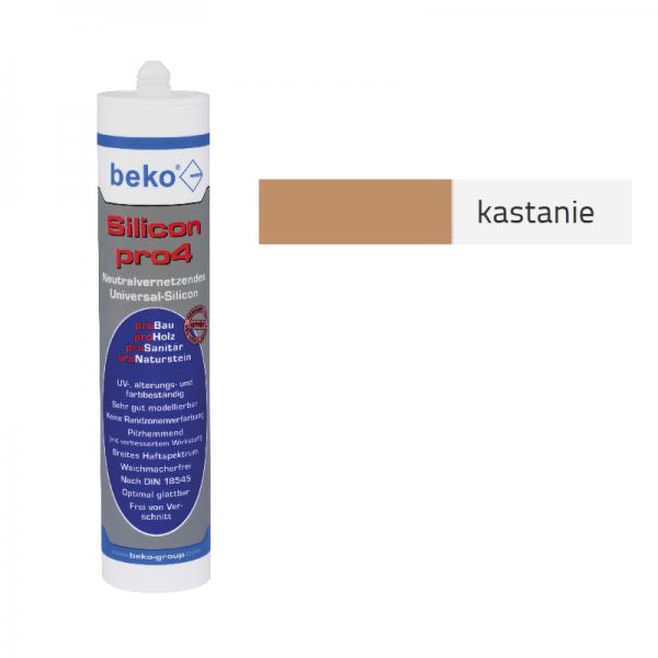 Beko pro4 Premium-Silicon 310ml - kastanie