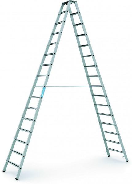 ZARGES Stehleiter Saferstep B - 41316 - 16 Sprossen - Leiterhöhe 4,21 Meter