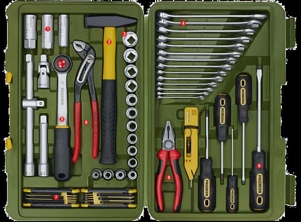 Proxxon PKW- und Universal-Werkzeugkoffer 46-teilig - 23650