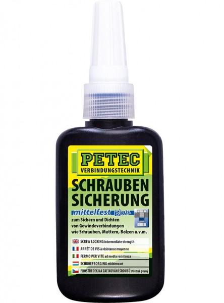 Petec Schraubensicherung - mittelfest - 50 gramm - Flasche - 91050