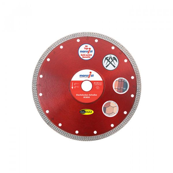 Marcrist RC850 AkkuMAX Diamanttrennscheibe für Dachdecker - 230mm - für Ziegel