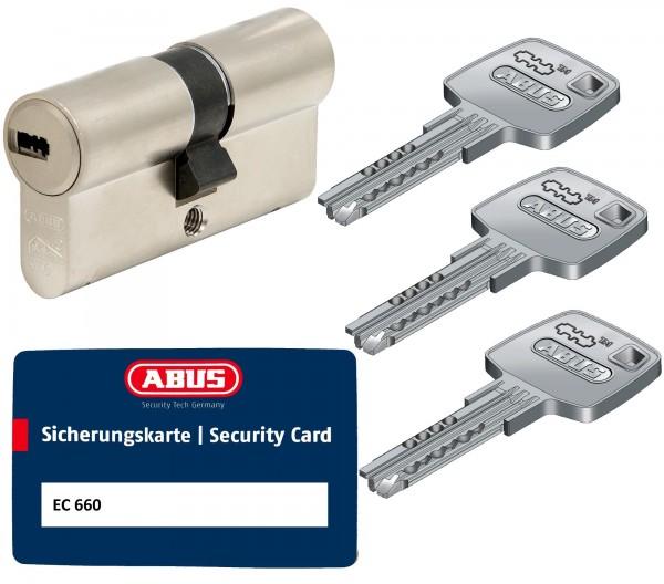 ABUS EC660 Schließzylinder Sicherungskarte Gleichschließend drei Schlüssel
