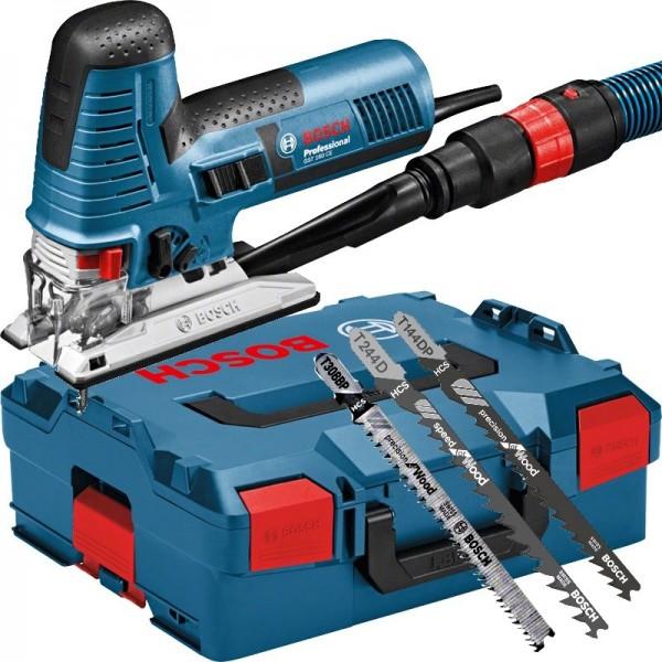 Bosch Stichsäge GST 160 CE - L-BOXX - 3 Sägeblatter - 800 Watt - 2,2 kg