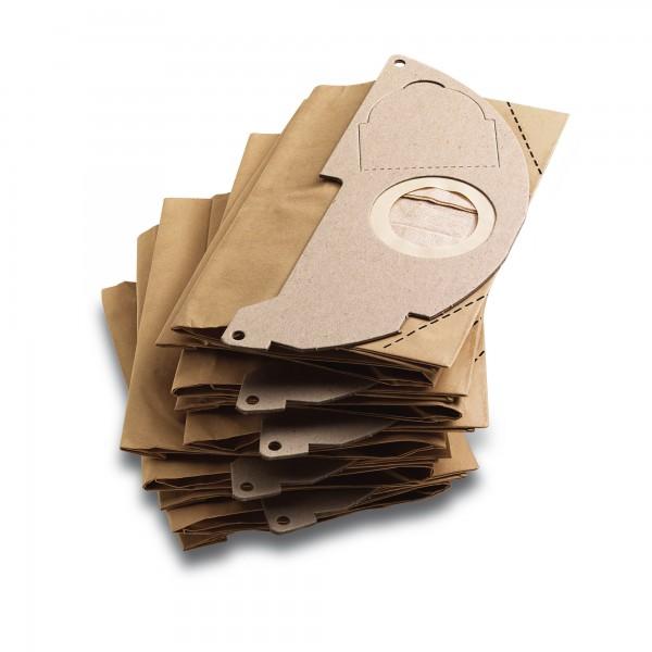 Kärcher Papierfiltertüten - 2-lagig - 5 Stück - für WD2 und viele mehr