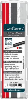 Pica BIG Dry - For-All-Ersatz-Minen - graphit/weiß/rot - 6045