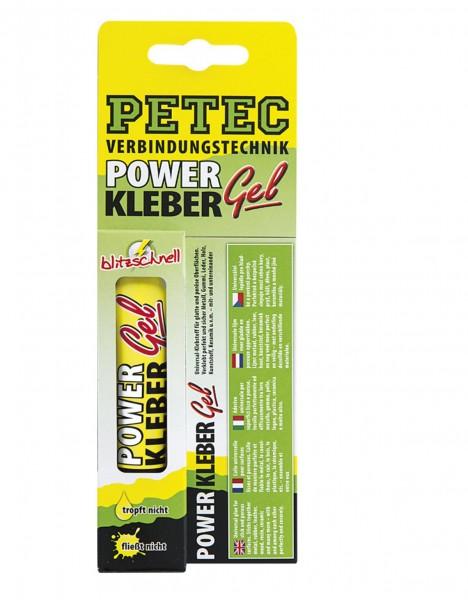 Petec 93720 POWER Kleber Gel - 20 Gramm Tube - Universal