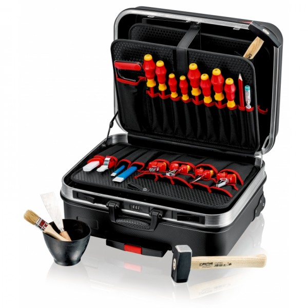 "Knipex 00 21 06 HL S Werkzeugkoffer ""BIG Basic Move"" Elektro - 10,29kg - 33 Liter"