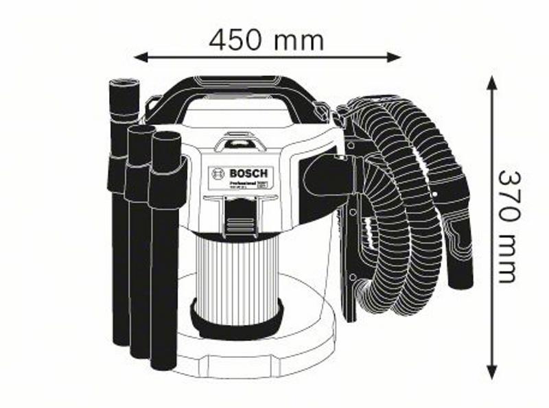 bosch professional 18v 10 l akku staubsauger gas 18v 10 l ohne akku ebay. Black Bedroom Furniture Sets. Home Design Ideas