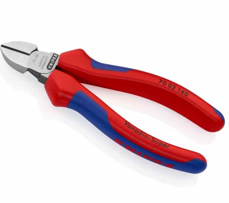 KNIPEX® 70 02 140 Seitenschneider Mehrkomponenten-Griffhüllen 140 mm